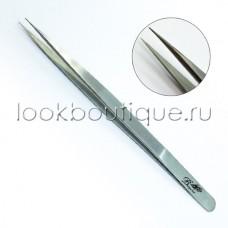 Пинцет прямой (японская сталь), slim, зеркальный