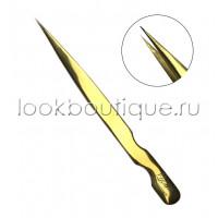 Пинцет прямой, Plasma Gold (японская сталь)