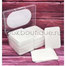 Салфетки безворсовые в пластиковом контейнере 8х4