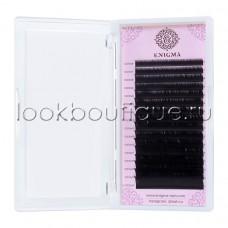 Черные ресницы Enigma Изгиб D (микс) 16 линий