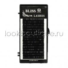 Ресницы черные BLISS миксы коротких длин, изгиб D