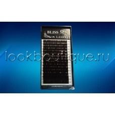 Ресницы BLISS горький шоколад микс, изгиб С и D, 16 лент