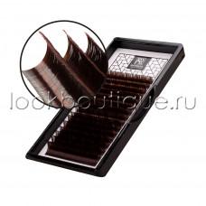 """Ресницы BARBARA """"Горький шоколад"""", микс, изгиб D, 16 лент"""
