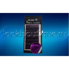 Реснички BLISS ОМБРЕ Фиолетовые с черным основанием