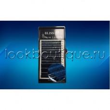 Реснички BLISS ОМБРЕ Синие с черным основанием