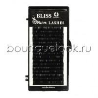 Ресницы черные BLISS миксы коротких длин, изгиб C