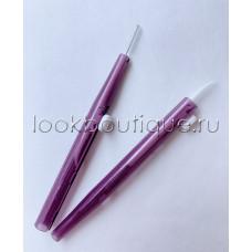 Щеточка baby brush Lash Botox (фиолетовая, конусообразная)