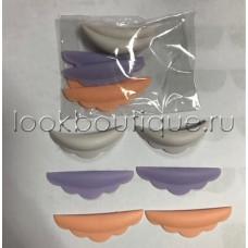 Валики силиконовые цветные, 3 пары в наборе