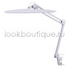 Бестеневая белая без подсветки рабочая лампа на струбцине LED, 117 светодиодов