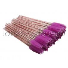 Щеточки нейлоновые для расчесывания ресниц и бровей (10 штук в упаковке)