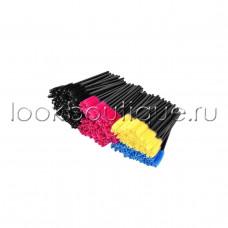 Щеточки нейлоновые для расчесывания ресниц цветные