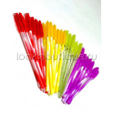Щеточки силиконовые для расчесывания ресниц цветные
