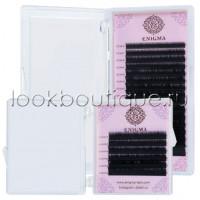 Черные ресницы Enigma, микс, изгиб C, 6 линий