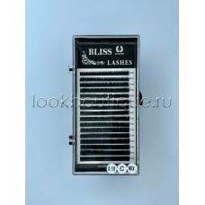Ресницы чёрные Bliss, микс короткие,16 лент, изгиб C, толщина 0,07, 0,10