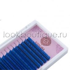 """Ресницы цветные Enigma """"Blue"""" (микс, 6 линий) синие, изгибы C, D"""