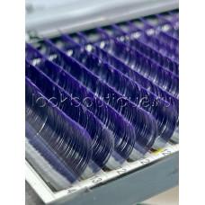Ресницы Bliss омбре фиолетовые с черным основанием, микс, 7-14 мм, 16 лент