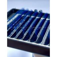 Ресницы Bliss омбре синие с черным основанием, микс, 7-14 мм, 16 лент