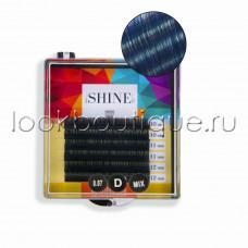 Мини-палетки elSHINE 2-х тоновые (синий), микс, 6 лент