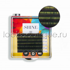 Мини-палетки elSHINE 2-х тоновые (зеленый), микс, 6 лент