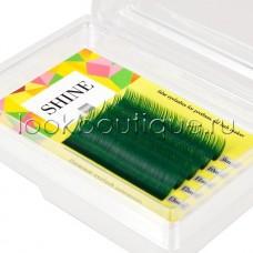 Мини-палетки SHINE цветные (травяной зеленый), 6 лент