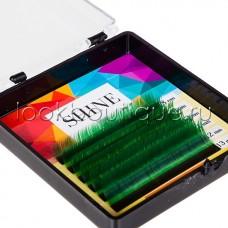 Мини-палетки SHINE цветные (зеленый), 6 лент